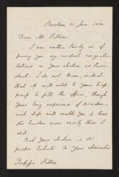 Edward Everett to Cornelius Conway Felton, page 1 Digital Object