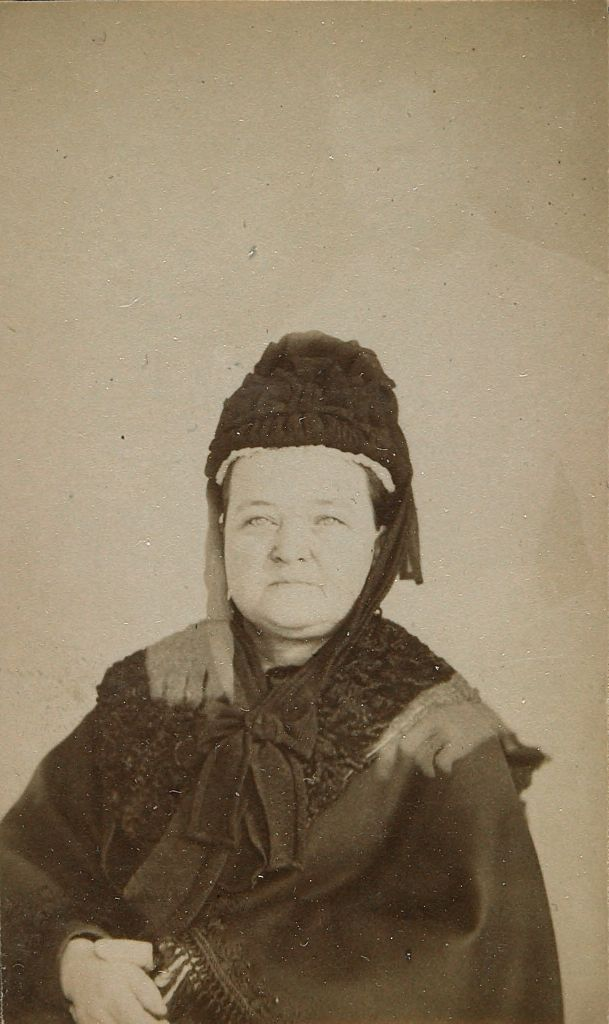 Mary Todd Lincoln (1818-1882) (Untitled Spirit Photograph With Abraham Lincoln's Shadow)