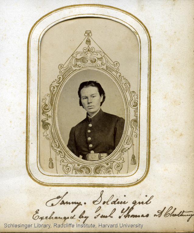 Portrait of Frances Hook, aka Frank Miller, a soldier in the Union Army