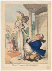 Dropsy courting consumption.   Tegg's Caricatures, No. 45