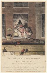 Two o'clock in the morning, Rat- tat -tat! Tingle - tingle - tingle!!