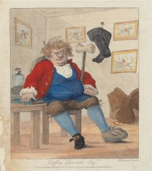 Caricature of man with gout