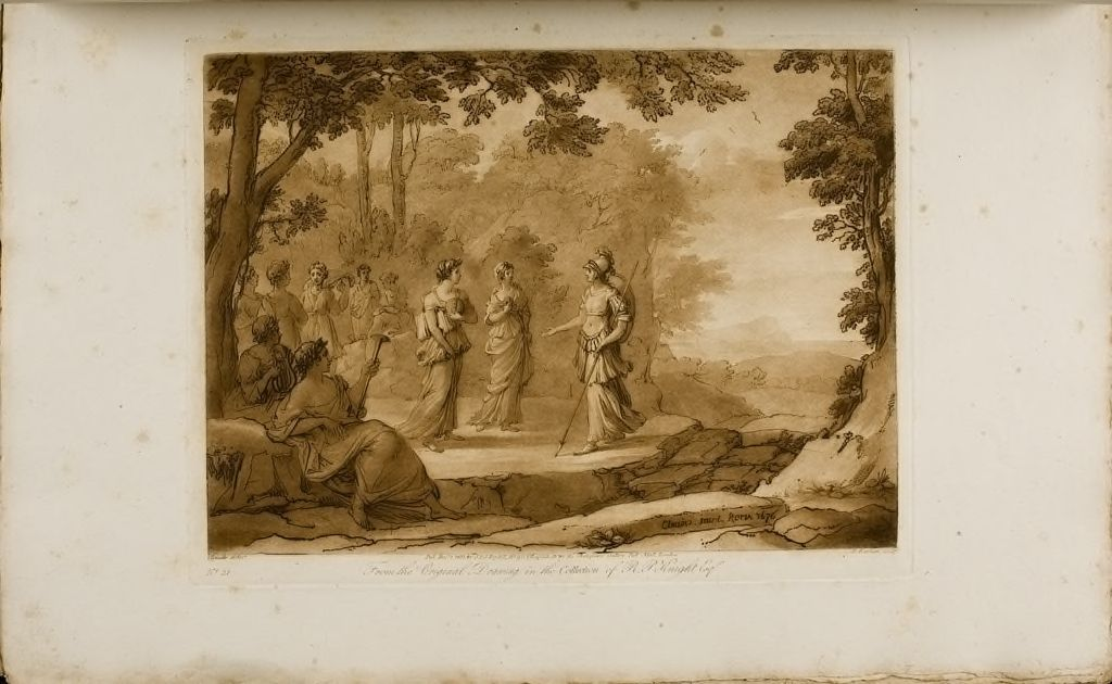 A Landscape, Minerva And The Muses