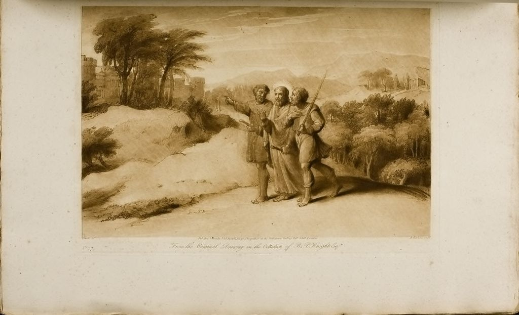 Christ And His Disciples Going To Emmaus