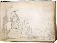 Mounted Soldier Before A Tent