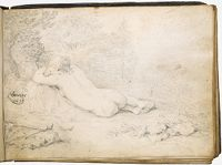 Sleeping Diana Spied Upon By A Satyr