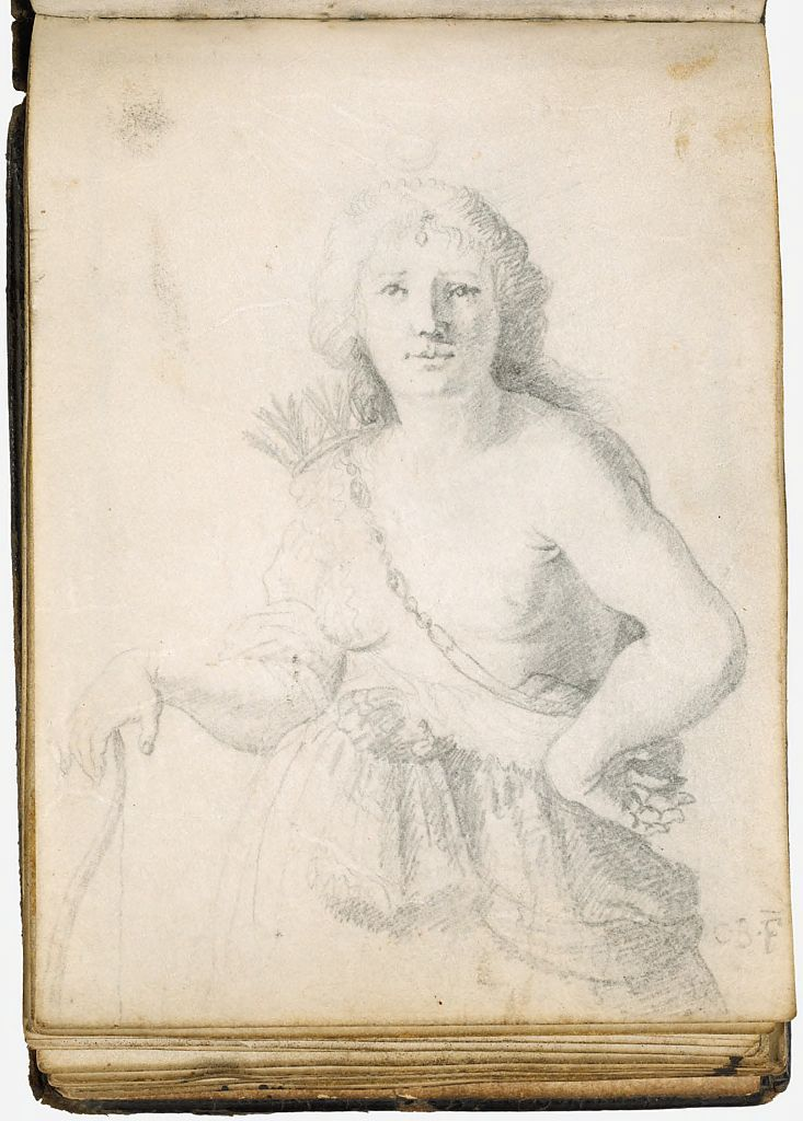 Blank Page; Verso: Diana