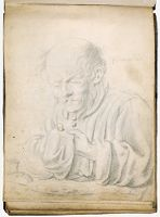 Old Man Saying Grace Before A Meal