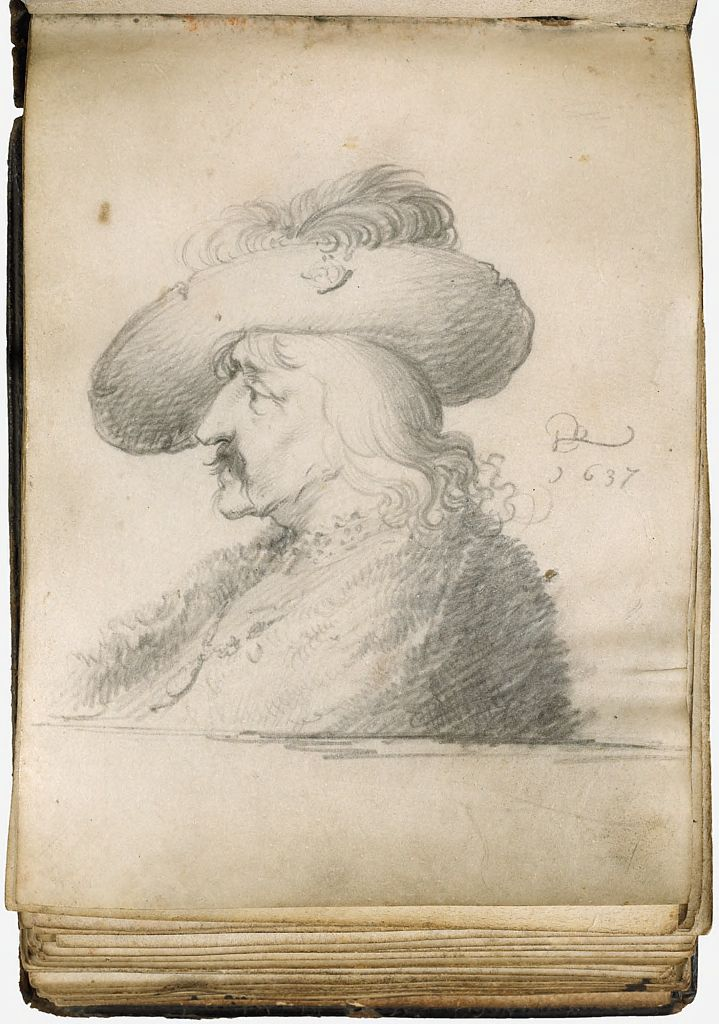 Blank Page; Verso: Man Wearing A Hat