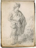 Man In Middle Eastern Costume Standing In A Landscape