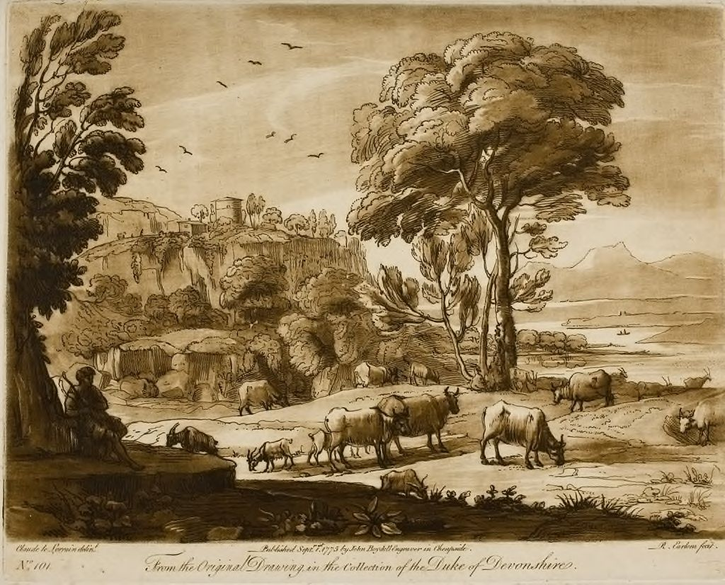 A Landscape, With Cattle