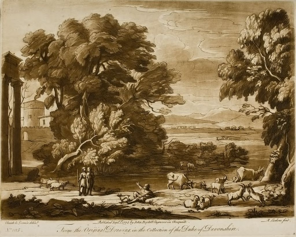 A Landscape, With Buildings And Cattle