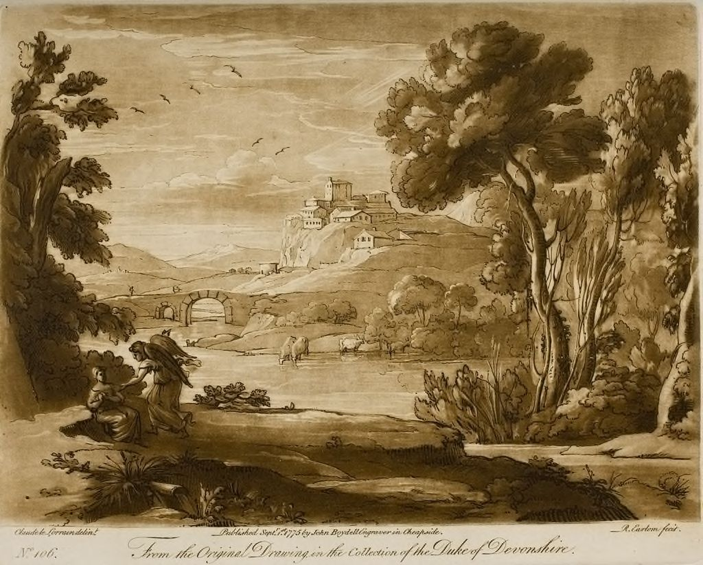 A Landscape With The Angel Comforting Hagar, When She Had Fled From Sarah