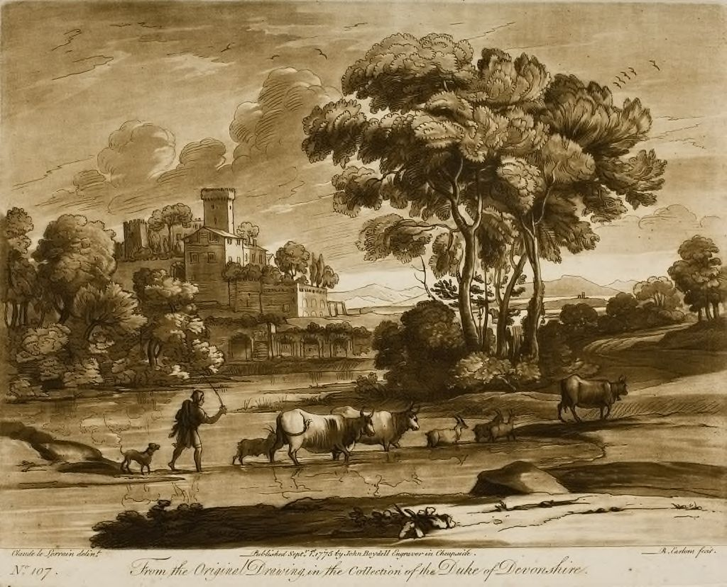 A Landscape, With Cattle Passing A Ford