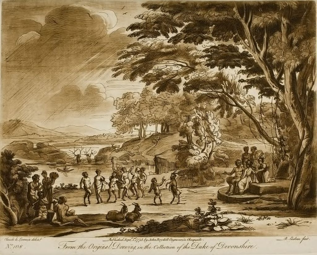 A Landscape, With Satyrs And Nymphs Dancing