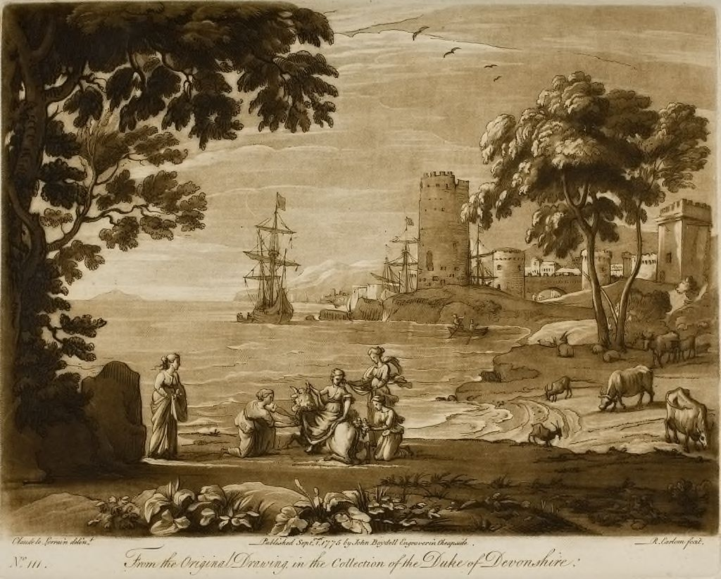 View Of A Seaport, With The Rape Of Europa