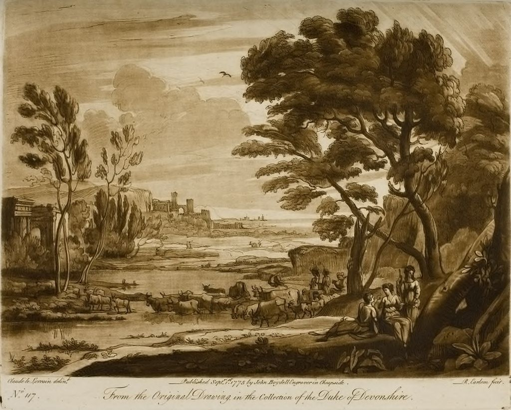 A Landscape, With Peasants And Cattle, Enriched With Buildings