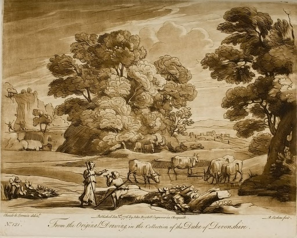 A Landscape, With Peasants And Cattle