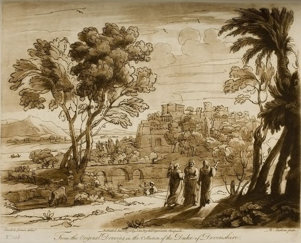 A Landscape, With Christ And His Disciples Going To Emmaus (Christ Stops, As In The Attitude Of Expounding)