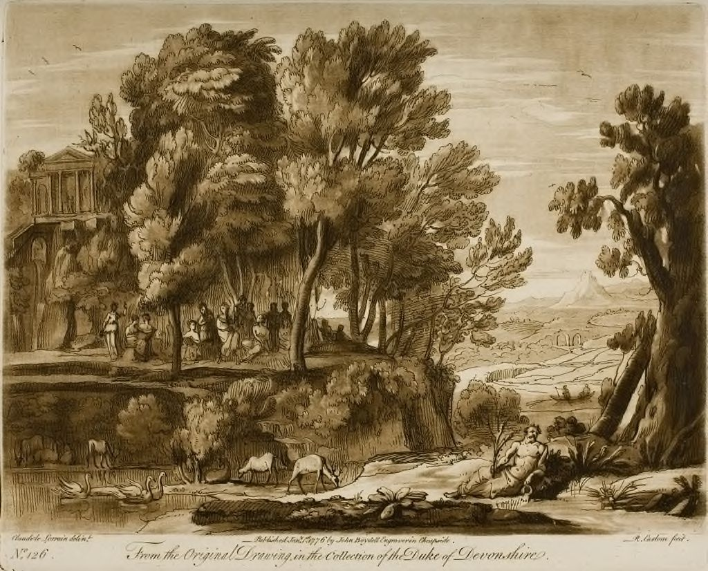 A Landscape, With Mount Parnassus And The Muses, The River Helicon Personified, Under The Character Of A River God Below