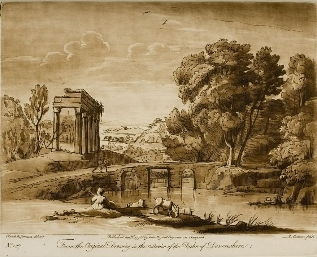 A Landscape, With A Ruined Portico