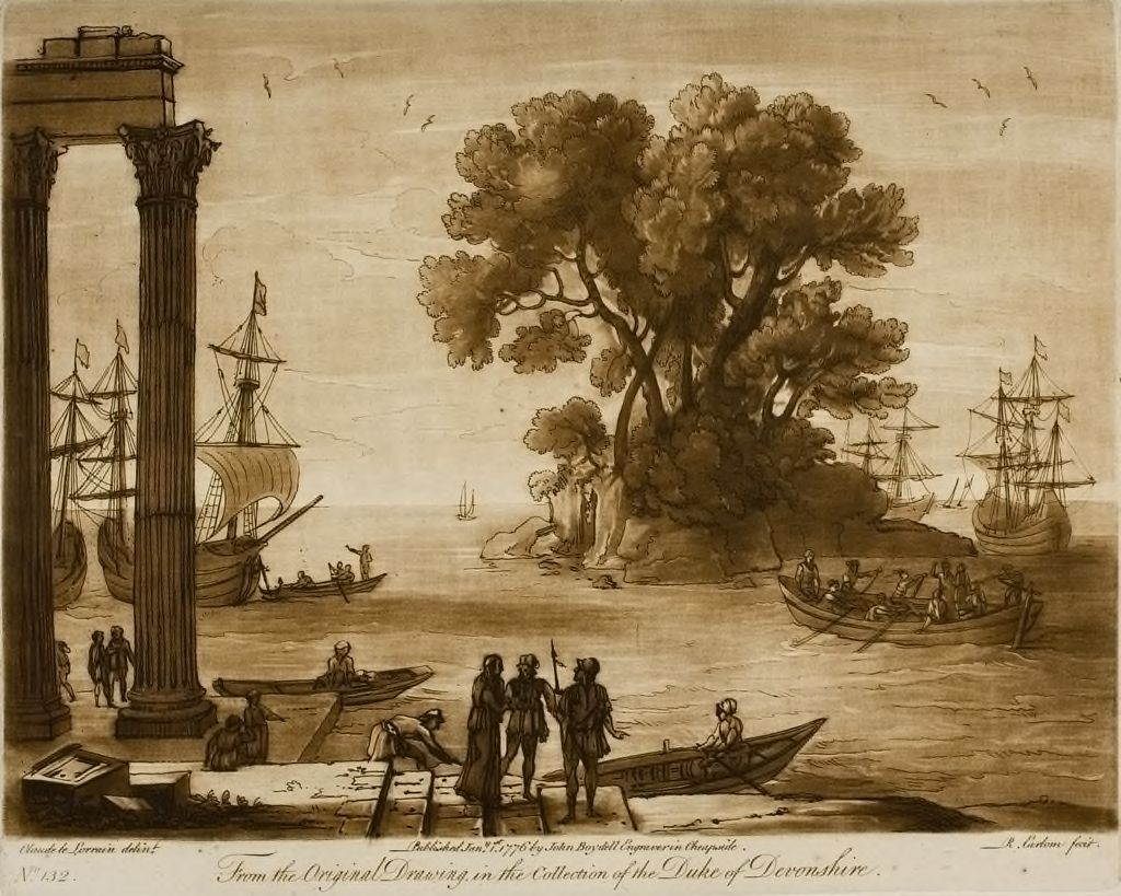 A View Of The Sea, With Portico