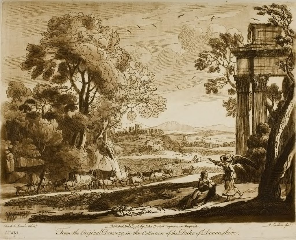A Landscape, With Cattle, And The Angel Comfortin Hagar