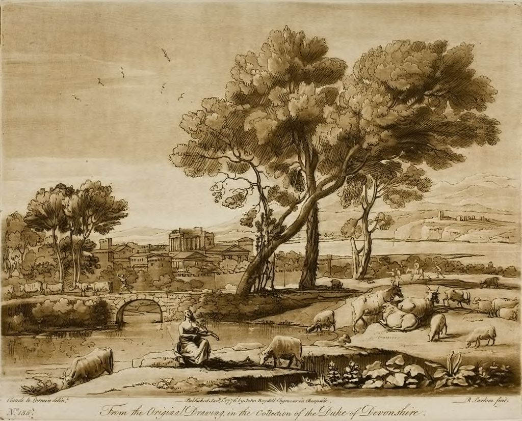A Landscape, With Buildings, And Mercury Stealing Admetus's Cattle From Apollo