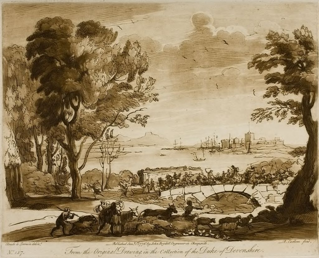 A View Of The Sea, And The Representation Of A Battle On A Bridge