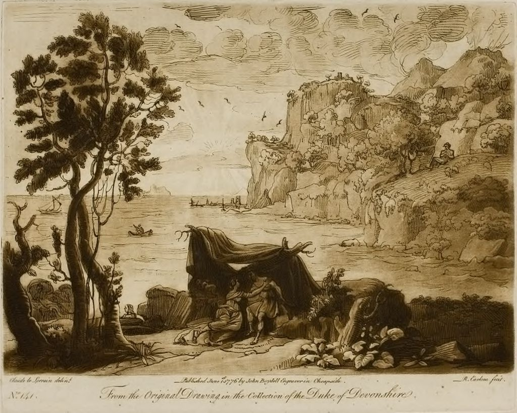 A View Of The Sea, With Rocks By The Side, With The Story Of Acis And Galatea