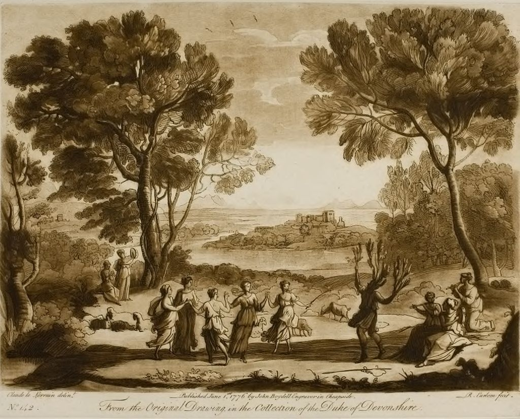 A Landscape, With Nymphs Dancing And The Apulian Clown Changing Into A Wild Olive Tree