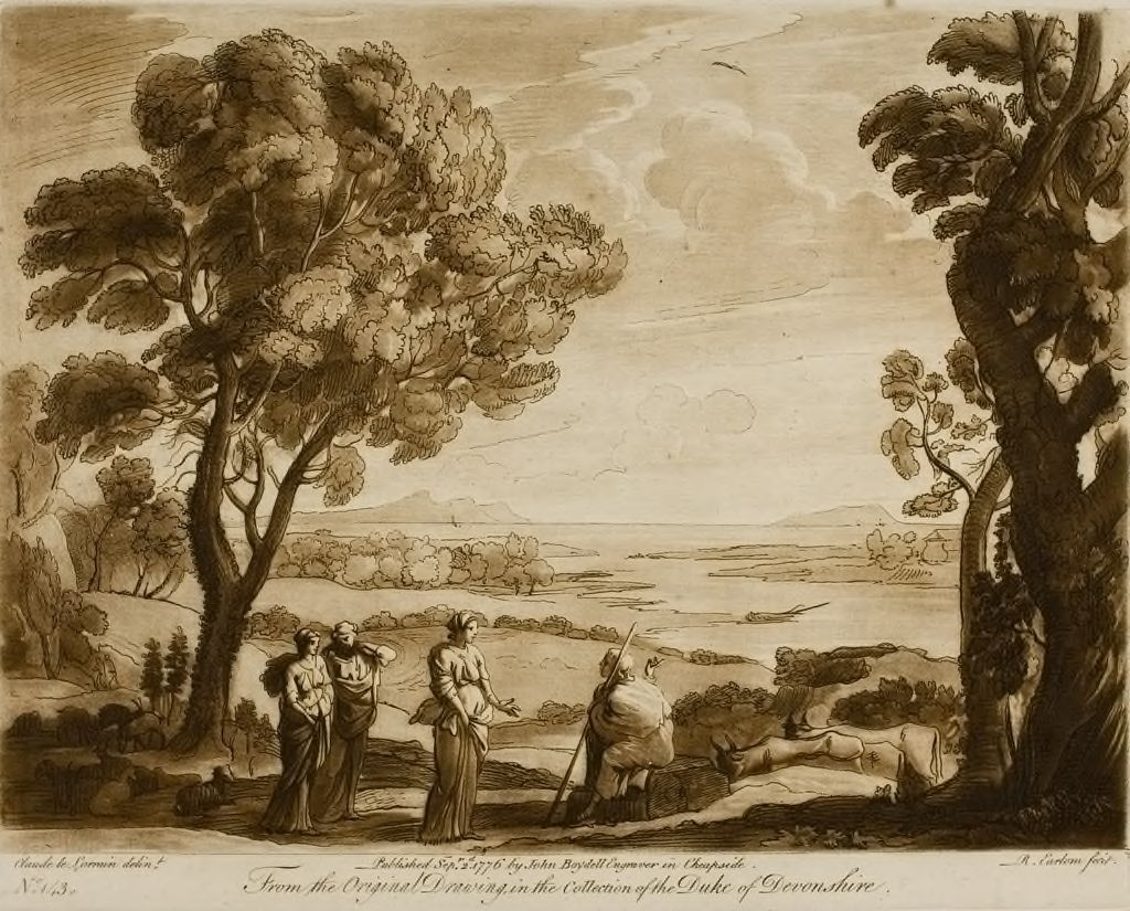 A Landscape, With Figures And Cattle, And The Judgment Of Paris
