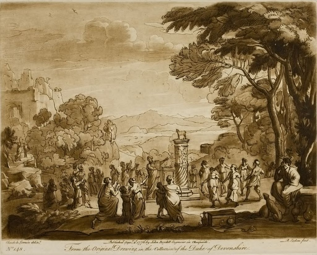 A Landscape, With The Worship Of The Molten Calf