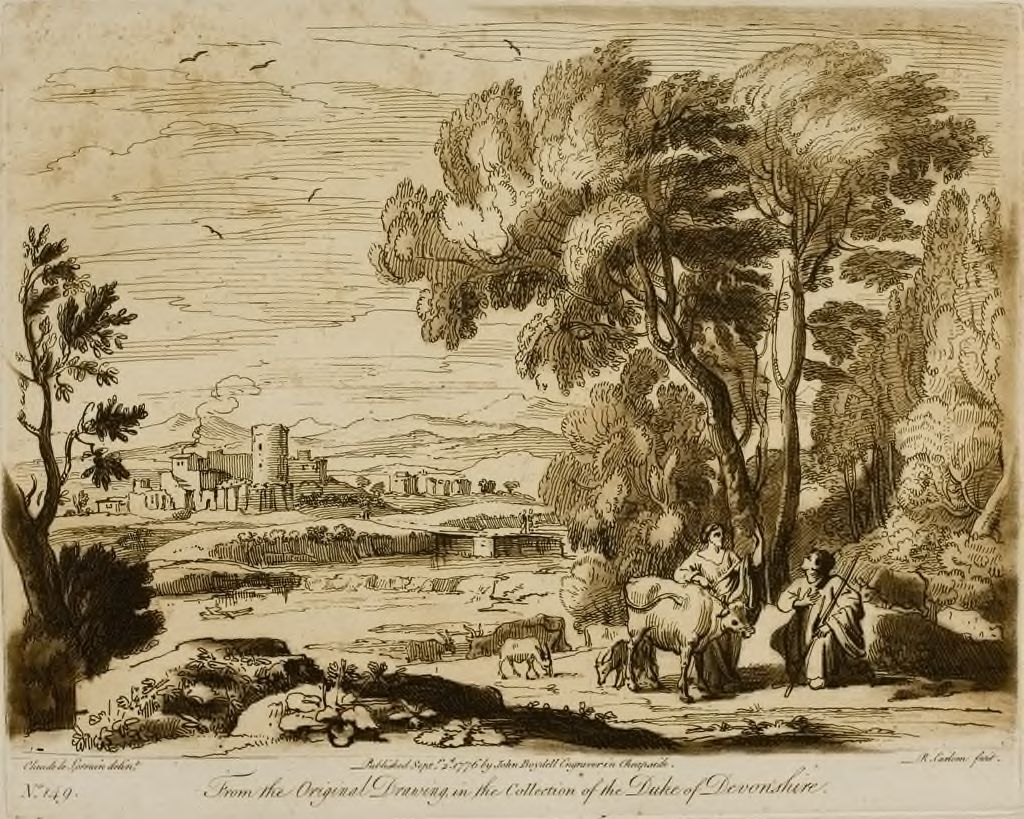 A Landscape, With Figures And Cattle, And Juno Committing The Care Of Io To Argus