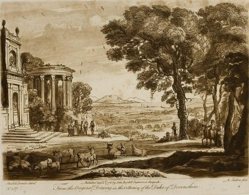 A Landscape, With Buildings And A Sacrifice