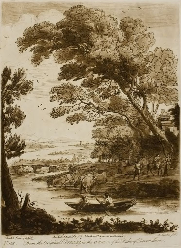 A Landscape, With Figures And Cattle, And The Flight Into Egypt