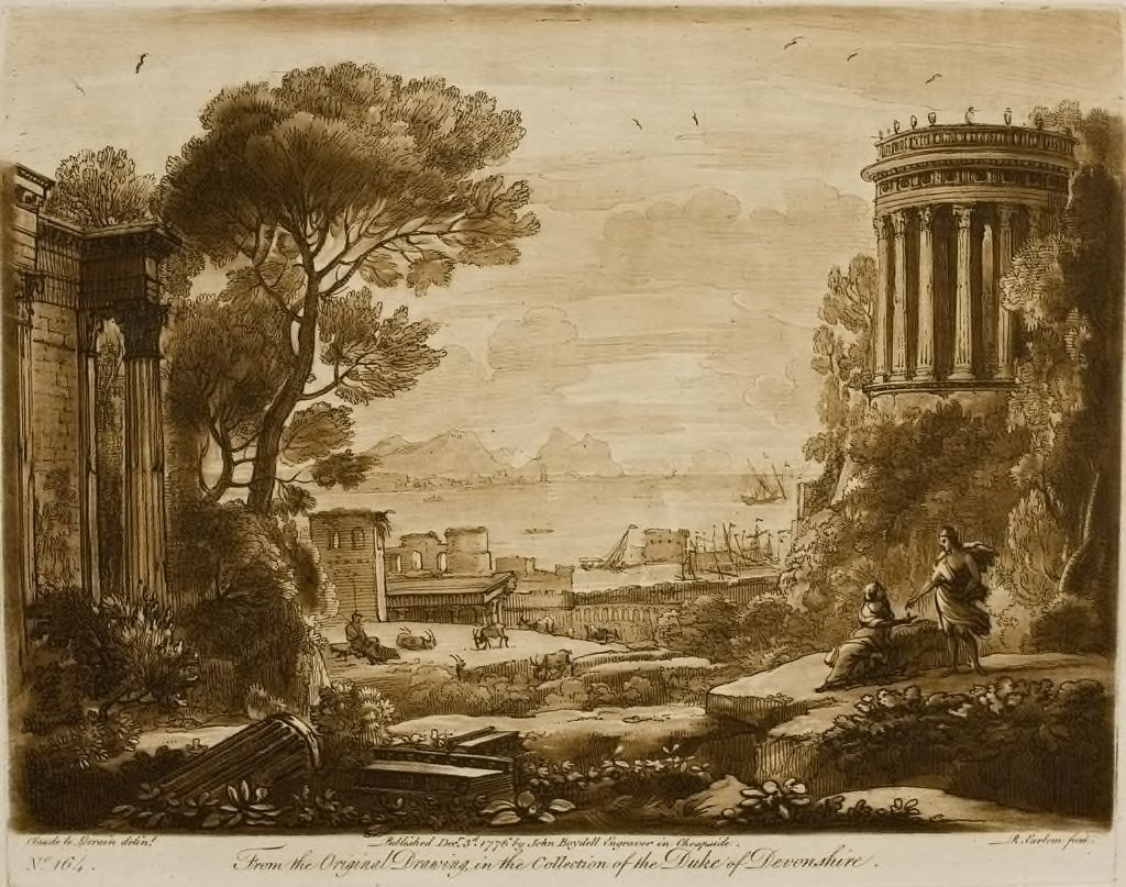 A Landscape, With Magnificent Buildings, And A View Of The Sea, And With The Story Of Apollo And The Cumean Sibyl