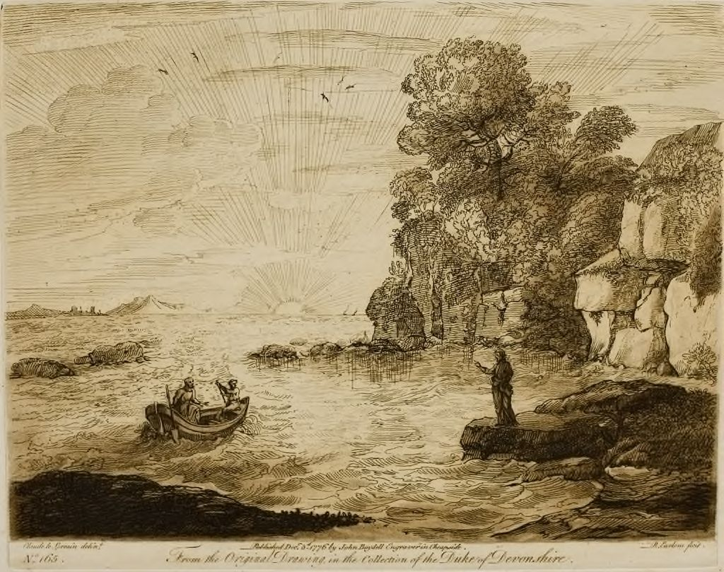 A Sea View, With Rocks, And Christ Calling Andrew And Peter