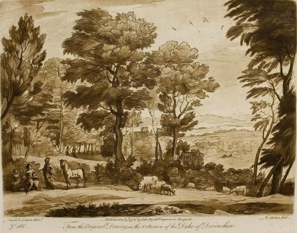 A Landscape, With Figures And Cattle, And Erminia Coming To The Old Shepherd, Who Was Listening To The Son Of His Three Children