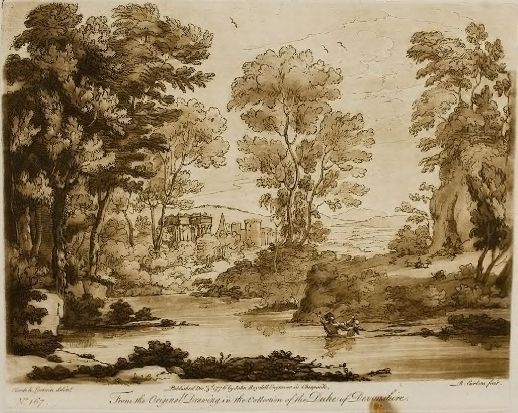 A Landscape, With Buildings, With The Story Of Cupid And Psyche