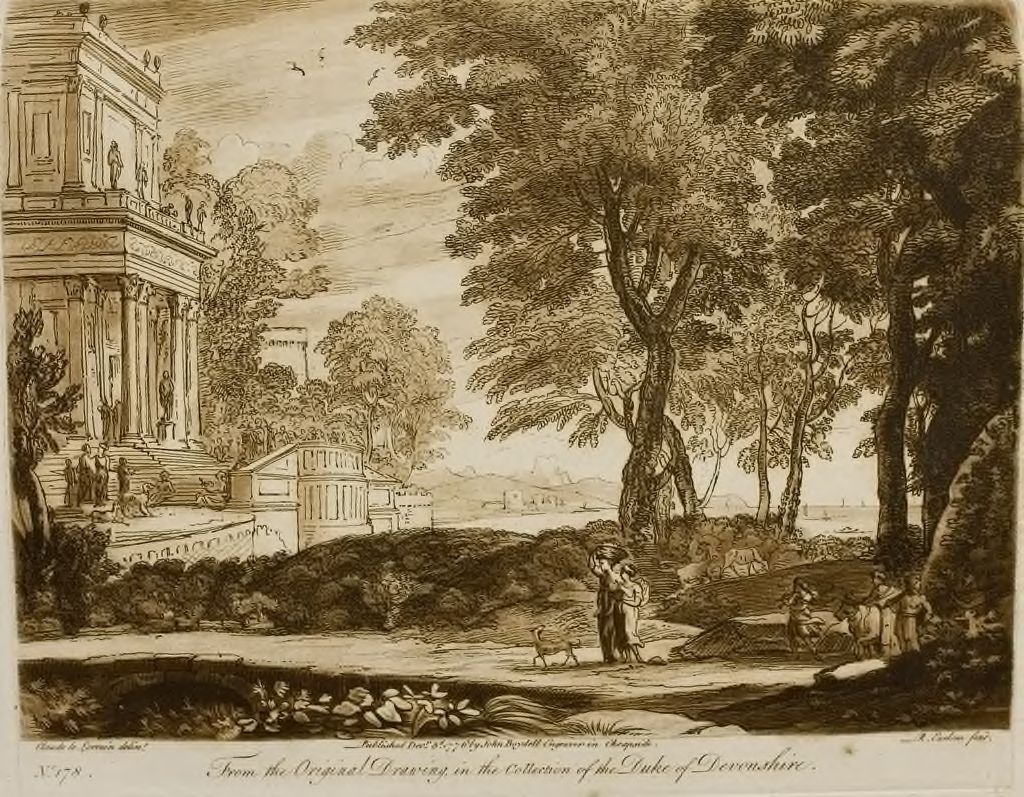 A Landscape, With Figures Conducting A Victim To A Temple