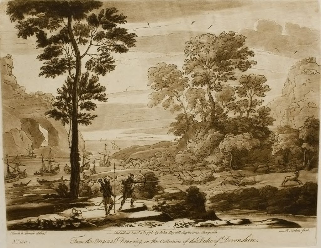 A Landscape With Aeneas Shooting Deer (As Related In The First Book Of Virgil's Aeneid)