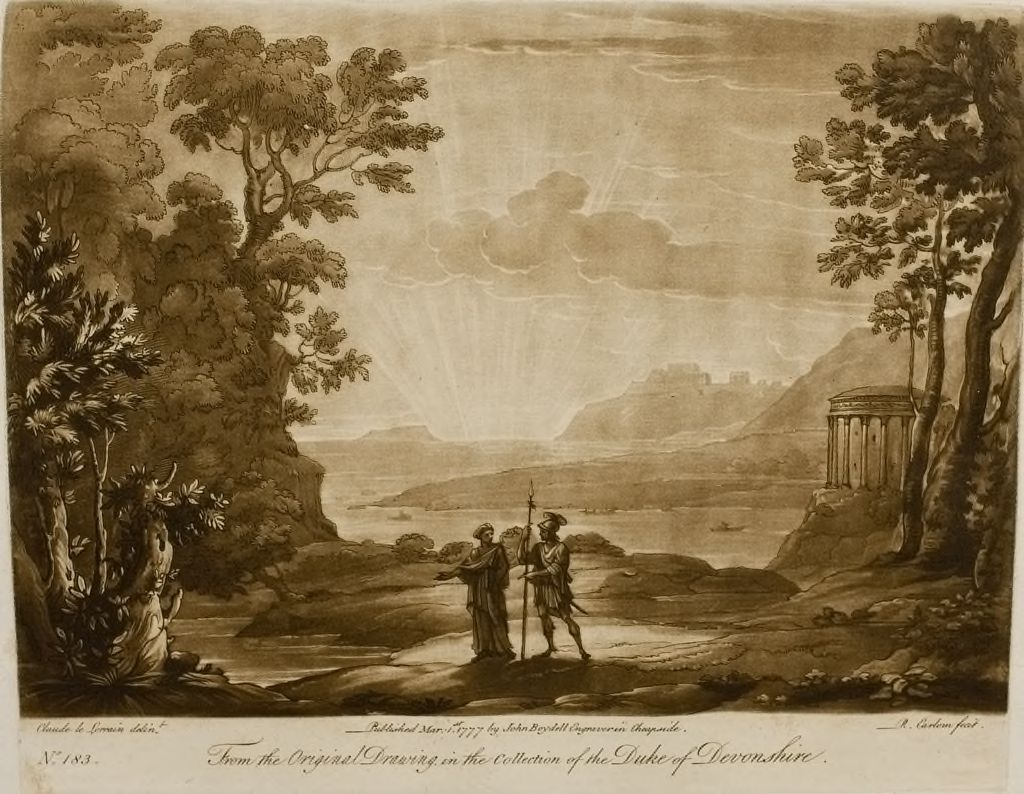 A Landscape At Sunset, And The Cumaean Sibyl Conducting Aeneas To The Infernal Shades