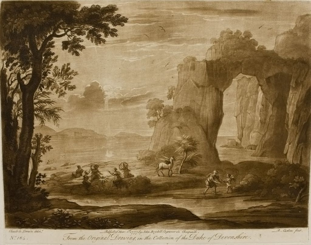 View Of A Pierced Rock Open To The Sea, With An Allegorical History Introduced