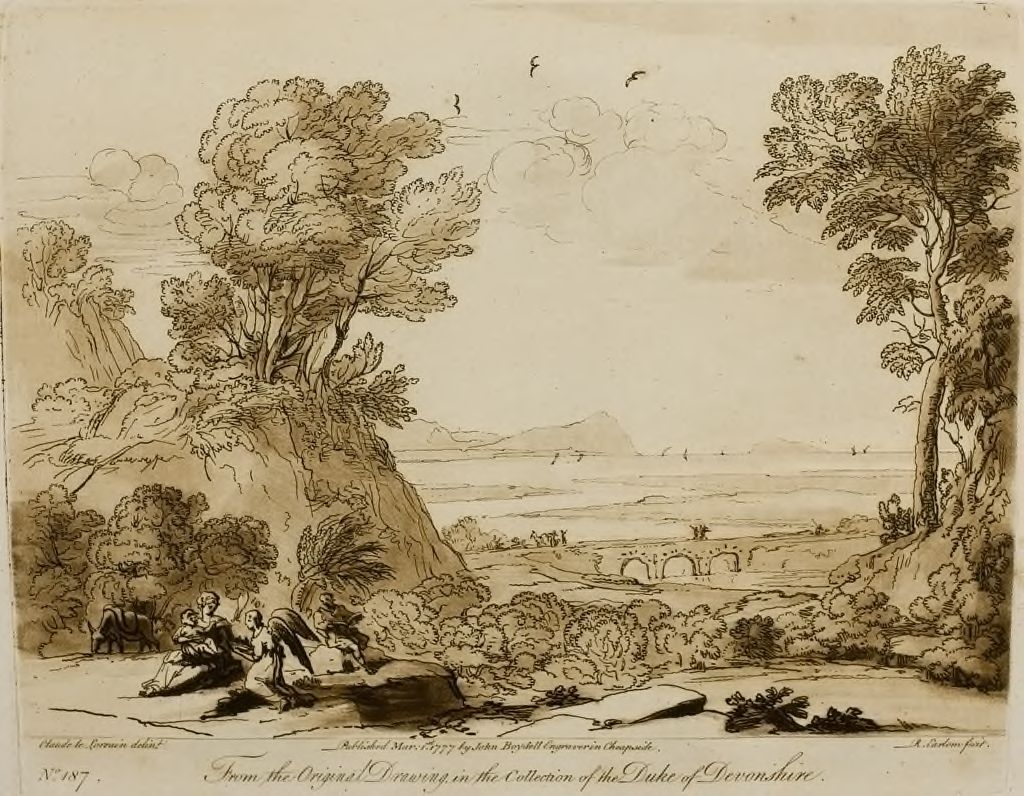A Landscape, With Repose In Egypt