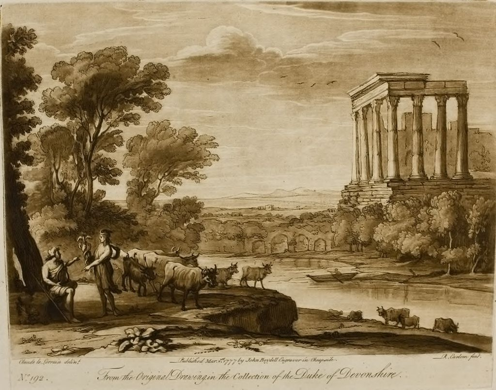 A Landscape, With An Antique Temple, And The Story Of Mercury And Battus