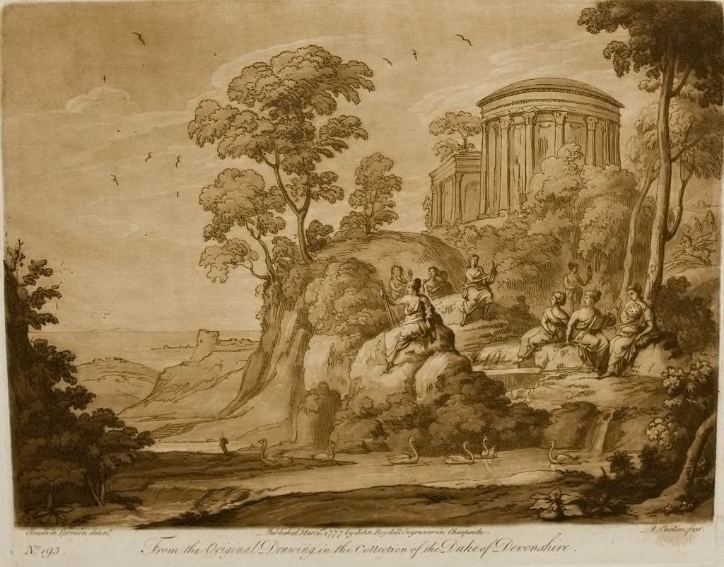 A Landscape, With A Representation Of Parnassus And The Muses