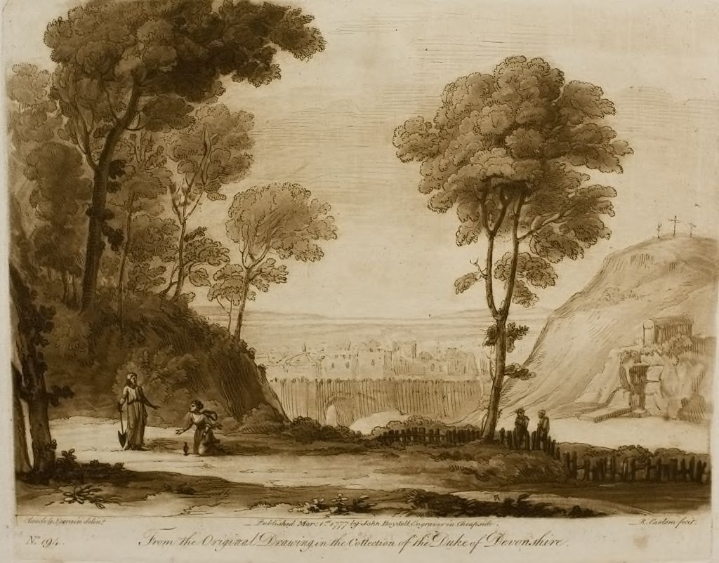A Landscape, With Christ's Appearance In The Garden, And A View Of Jerusalem And Mount Calvary