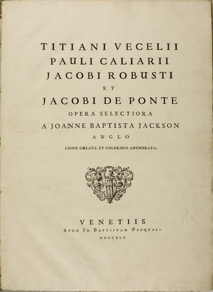 Selected Works By John Baptist Jackston After Titian, Veronese, Tintoretto And Others