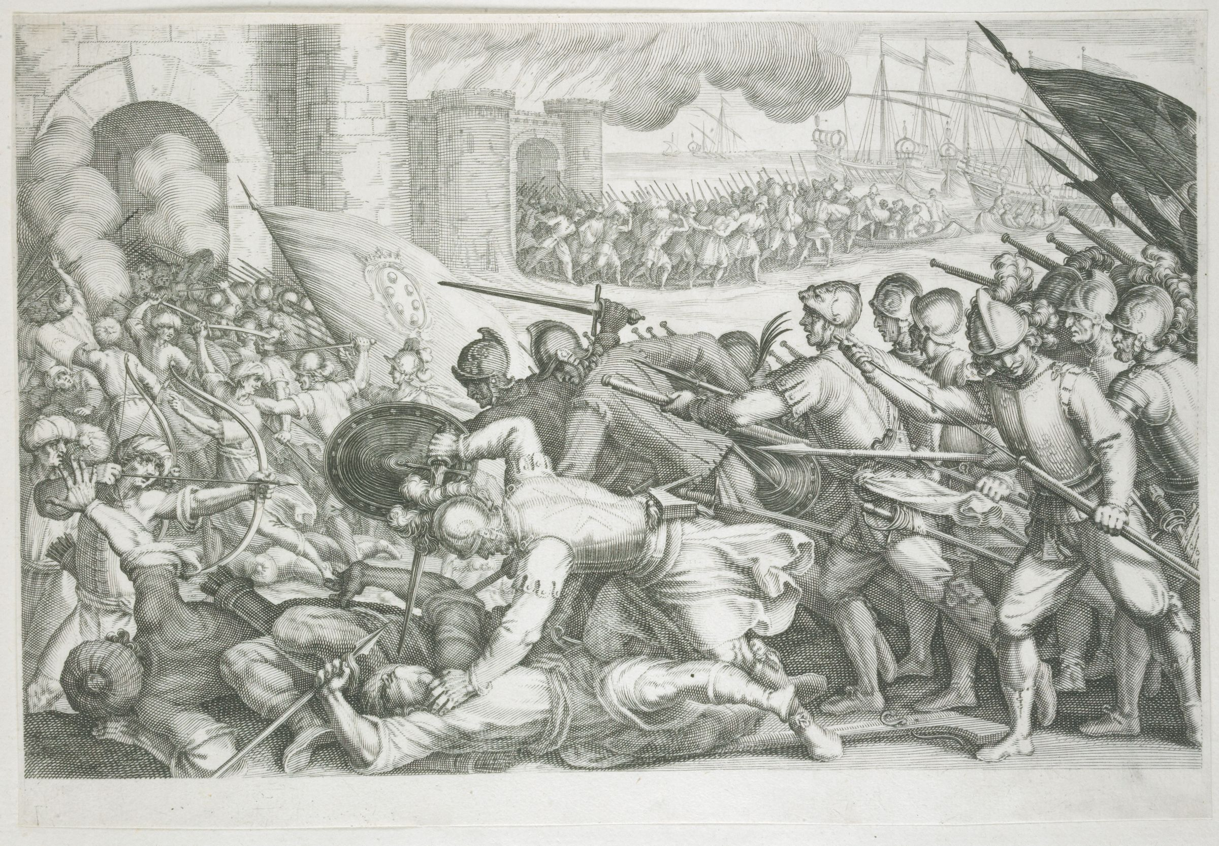 Troops Forcing A City Gate